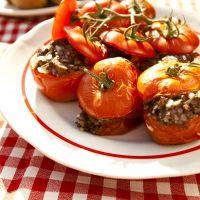 Zapiekane pomidory faszerowane kaszanką
