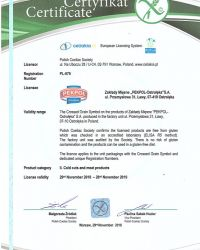 Certificate for gluten-free products