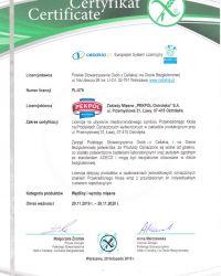 Certyfikat wyrobów bezglutenowych