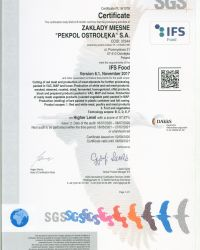 Certyfikat IFS Food