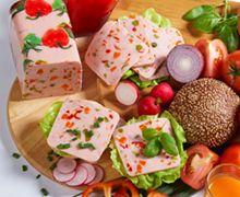 Blockprodukte und Frühstückfleisch